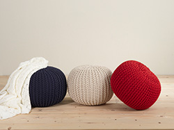 PU312 twisted rope poufs